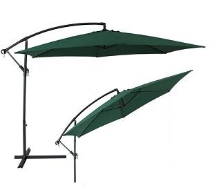 aluminium cantilever garden parasol green uv. Black Bedroom Furniture Sets. Home Design Ideas